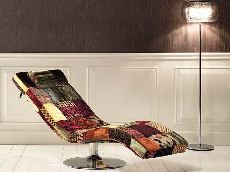 Chaise longue patchwork meubles pinterest m ridienne for Chaise longue patchwork