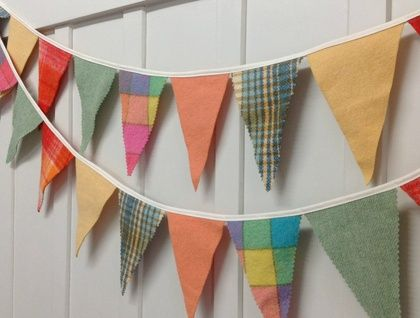 Bunting - 3 metres ! (groovy shades!)