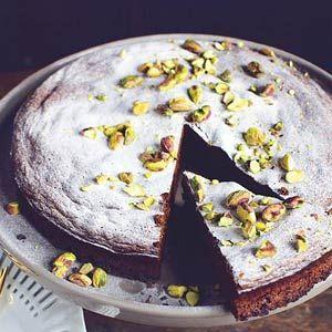 Recept - Chocoladetaart met pistachenoten - Allerhande