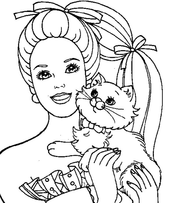 barbie coloring pictures cartoons coloring childrens barbie