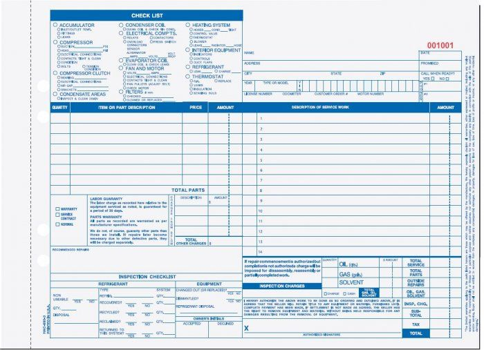 22 best Automotive Service Forms \ more! images on Pinterest - da form
