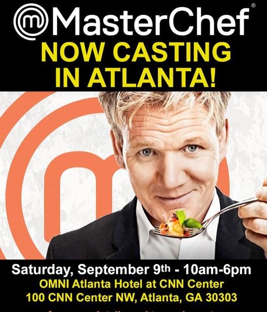 Ever dreamt of being a #MasterChef? @masterchefusa is holding an OPEN casting call for #ATL home cooks at @omnihotels at @cnncenteratlanta on Sept.9th. @masterchefonfox @masterchef_usa #cooking #chef #cheflife