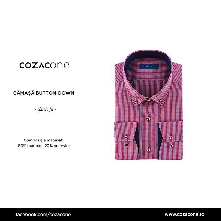 O cămașă button-down merge la orice - chiar la orice - outfit smart casual: http://www.cozacone.ro/produse/detalii/camasa-button-down-venturo/