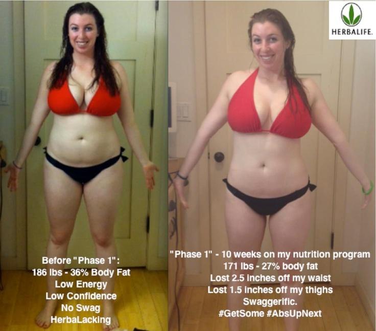 AMAZING progress in 10 weeks on her nutrition program ...