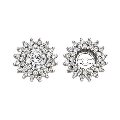 14K White Gold 1/2 ct. Diamond Earring Jackets Katarina. $575.00