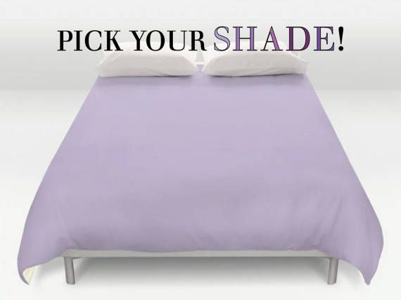 Purple Duvet Cover Solid Purple Bedding Bed Cover Lavender