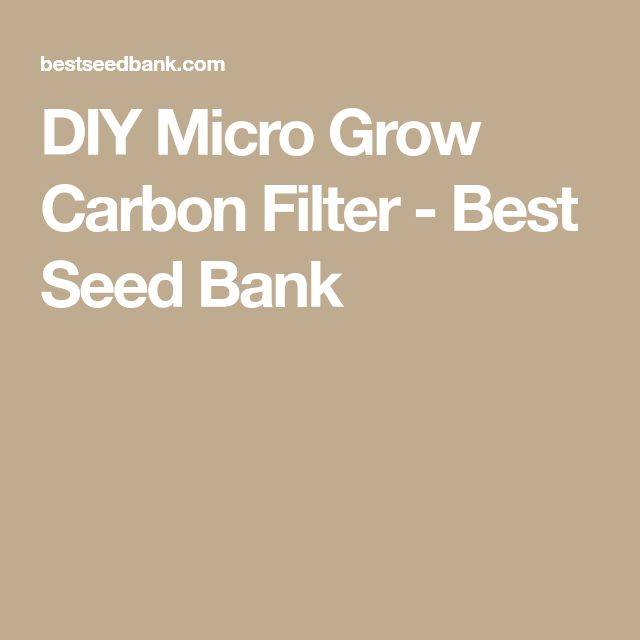 DIY Micro Grow Carbon Filter - Best Seed Bank