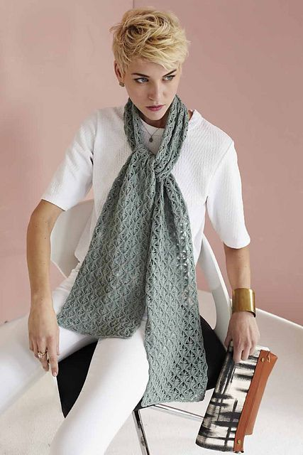 Knitting Vogue 2014 : Ravelry butterfly lace scarf pattern by wei wilkins