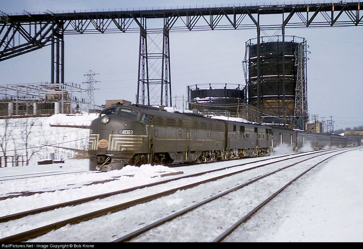 RailPictures.Net Photo: NYC 4063 New York Central EMD E8(A) at Poughkeepsie, New York, 1958, by Bob Krone