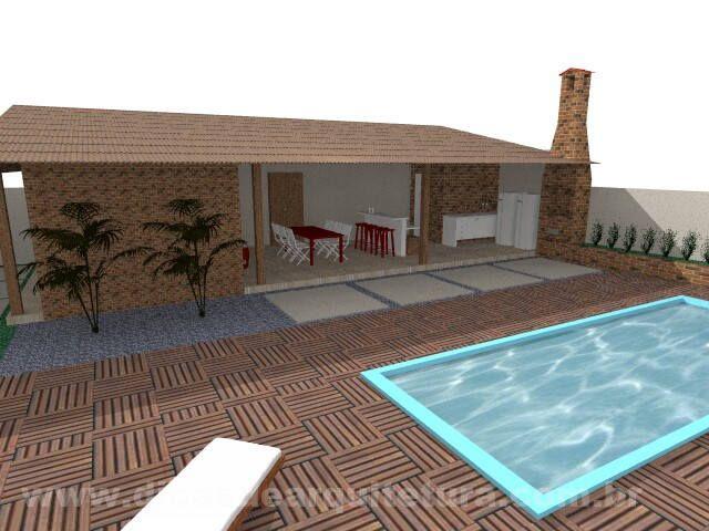 Garagem com churrasqueira. http://dicasdearquitetura.com.br/garagem-com-churrasqueira/
