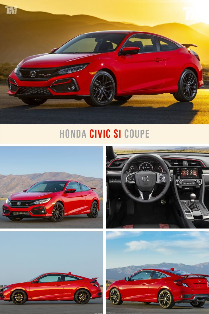 2020 Honda Civic Si Coupe in red, with styling and