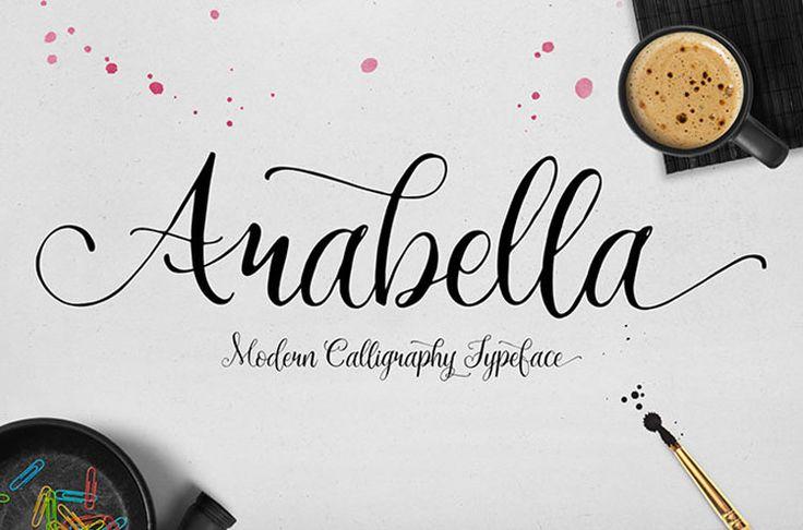 Typographie : Elle est gratuite et elle s'appelle « Arabella »