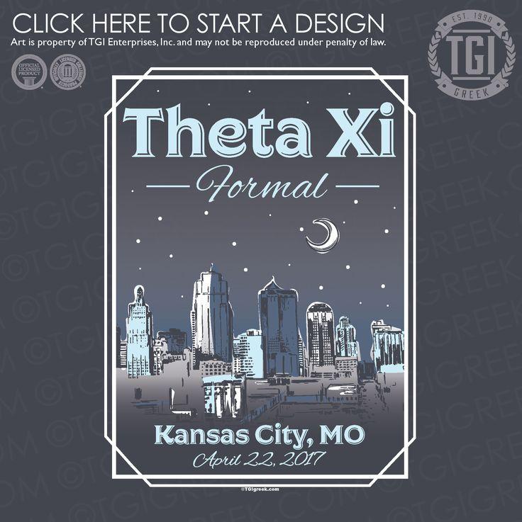 Theta Xi | ΘΞ | Formal | Formal Shirt | Kansas City Formal | TGI Greek | Greek Apparel | Custom Apparel | Fraternity Tee Shirts | Fraternity T-shirts | Custom T-Shirts