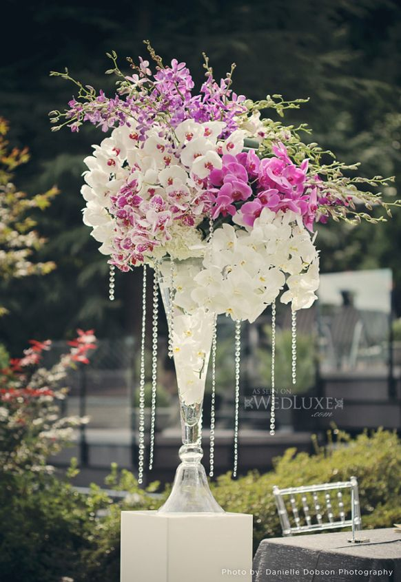 flower decorations for a wedding 2014 silver lavender ceremony flowers arrangment 4161