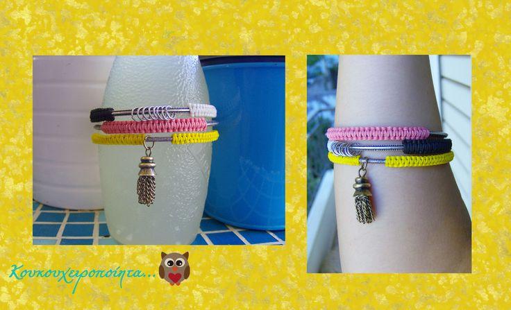 macrame on bracelets