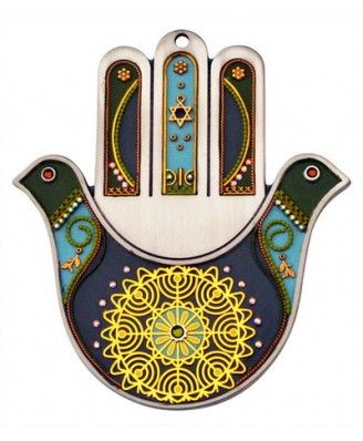 Peace Doves Hamsa Wall Decoration