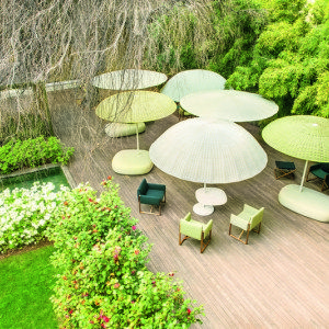 Natural yarn outdoor furniture