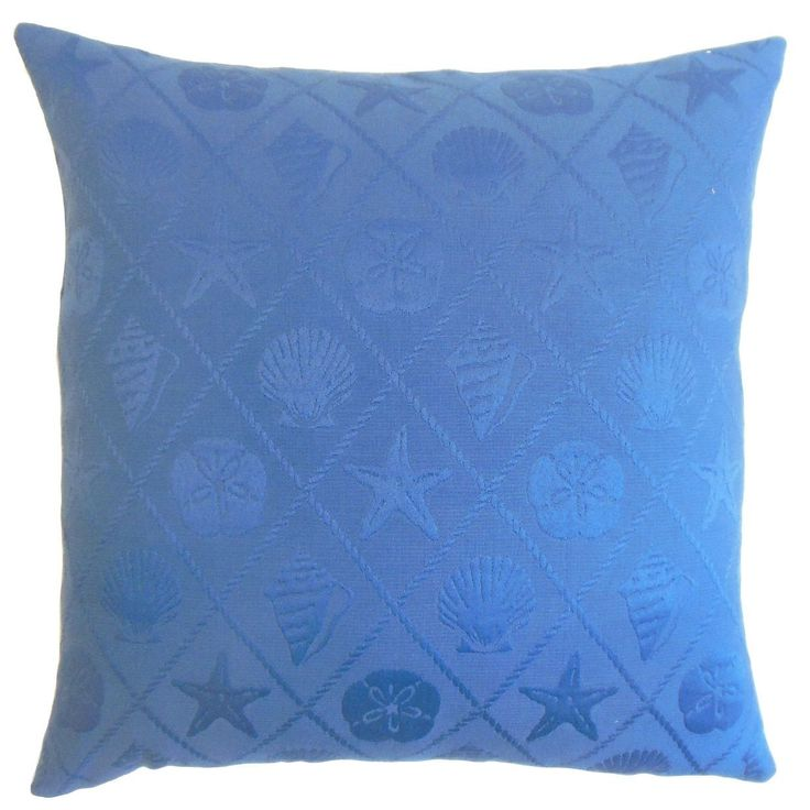"Naeva Outdoor 22-inch Down Feather Throw Pillow Royal (22"" x 22""), Blue, Size 22 x 22"