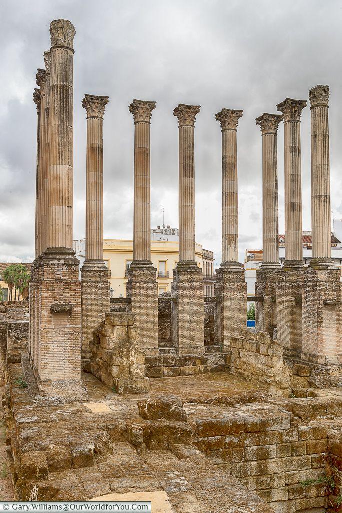 The remains of the Roman Temple, Cordoba, Córdoba, Spain