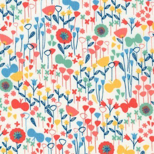 London Calling 5 - Floral - Park - Robert Kaufman - Cotton Lawn