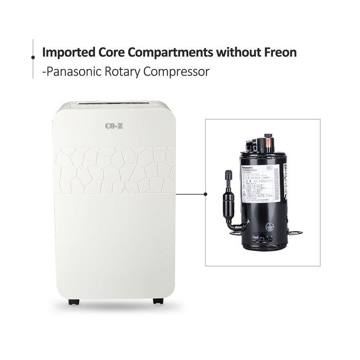COZ Portable 70 Pint Dehumidifier Air Purifier Clothes ...