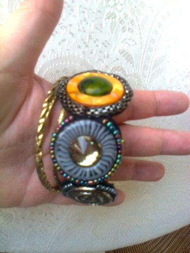 '4 boho style brass beaded bracelets new set' is going up for auction at 12am Sun, Aug 18 with a starting bid of $7.