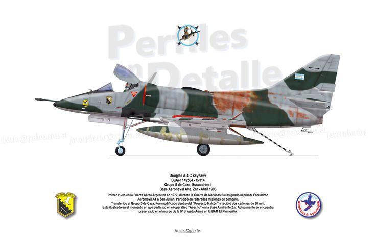 Douglas A-4 C Skyhawk BuAer 149564 - C-314 Grupo 5 de Caza – Escuadrón II Base Aeronaval Alte. Zar - Abril 1993