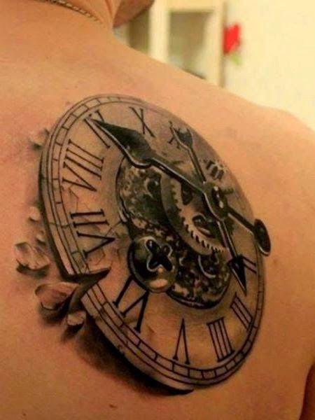 Clock tattoo photo | Tattoo Designs