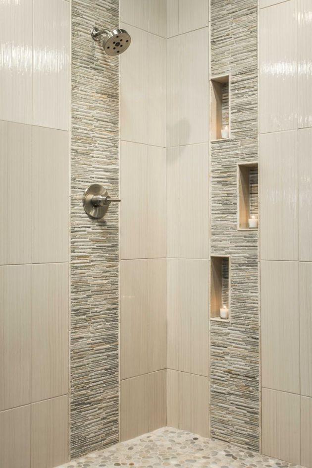 Smart Bathroom Tile Pattern Ideas That Go Together Bathroom Remodel Shower Modern Shower Design Patterned Bathroom Tiles