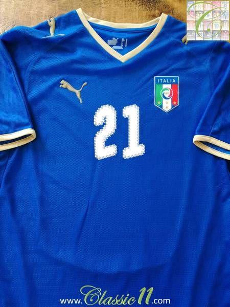 2008/09 Italy Home Football Shirt Pirlo #21 (M)