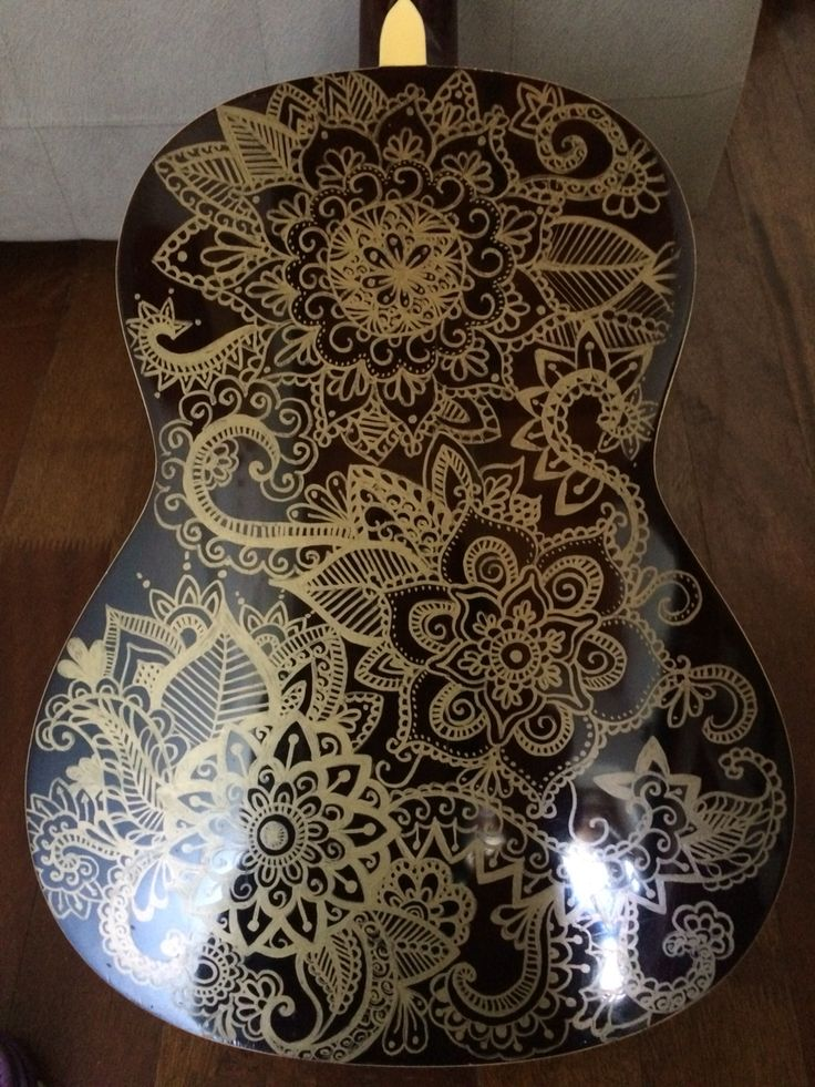 Decorated guitar. #musicanddrawing