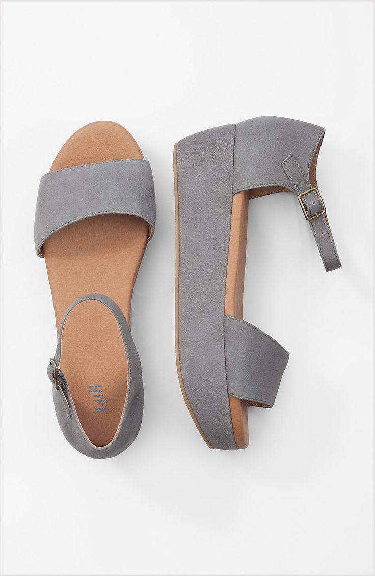 Ladies leather gloves asda - Ankle Strap Flatform Sandals J Jill