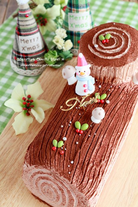 Home Made Christmas Cake (bûche de Noël)|ブッシュドノエル ♥ Dessert