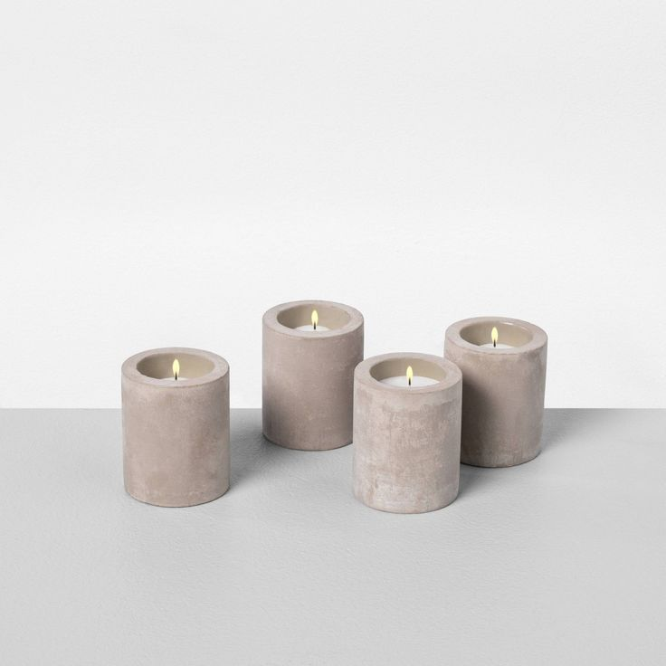 Small Fragrance Free Cement Candle - Hearth & Hand™ With Magnolia : Target
