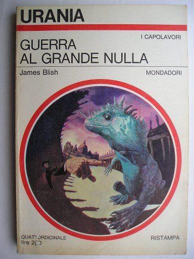 """Il romanzo """"Guerra al grande nulla"""" (""""A Case of Conscience"""") di James Blish è stato pubblicato per la prima volta nel 1958. La prima parte venne pubblicata come racconto lungo nella rivista """"If"""" nel 1953. Il romanzo ha vinto il Premio Hugo come miglior romanzo dell'anno. Nel 2004 il racconto lungo originale ha vinto il premio Retro Hugo assegnato alle opere pubblicare 50 anni prima. Immagine di copertina di Karel Thole per un'edizione """"Urania"""". Clicca per leggere una recensione di questo…"""