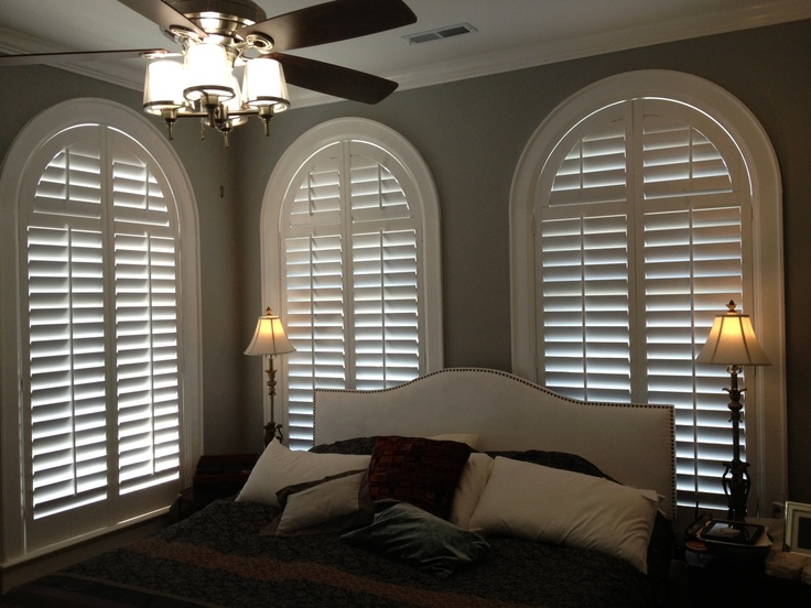 Beautiful Arched Shutters In An Amazing Bedroom Bedroom Window Treatments