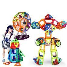 240PCS Pure Magnetic Designers Construction Building Blocks Toys DIY 3D & designer Learning Educational Bricks Kids Toys Sale Price:  US $97.72