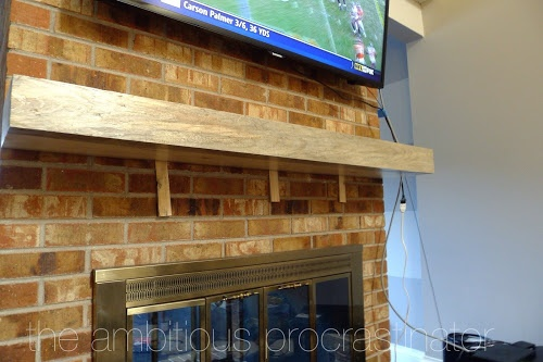 Putting up a floating mantel