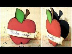 Manualidades para la vuelta al cole: Cómo hacer una tarjeta en forma de manzana. Tutorial scrapbook