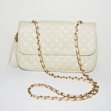 Quilted Ivory Bag