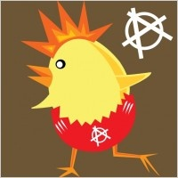 Get down punk rock Chicken! #Easter