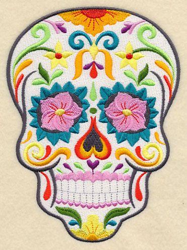 Flor Bonita Sugar Skull  Embr Lib file called Halloween-21 files purch 9-23-15