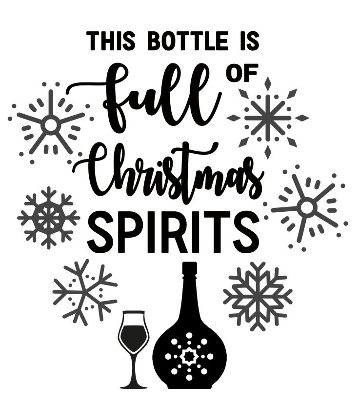 Raise a toast to Christmas cheer with this Free SVG File