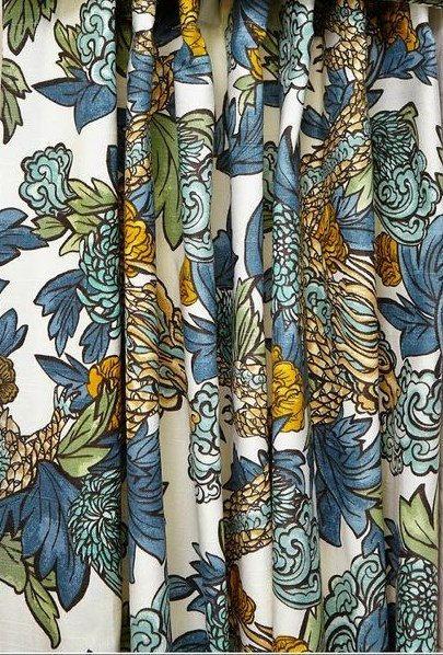 Ming Dragon Curtains Robert Allen Curtains Rod Pocket