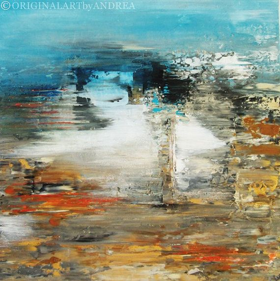 Thank you for your visit and enjoy!    This is a beautiful textured original acrylic abstract landscape painting with the Title: Dreaming