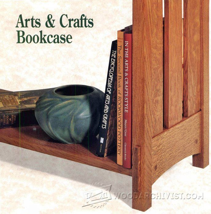 Arts And Crafts Bookcase Plans Furniture Plans And Projects Furniture