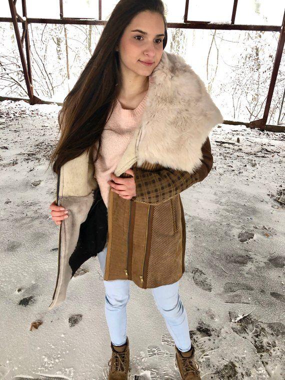 winterjacke lammfell damen