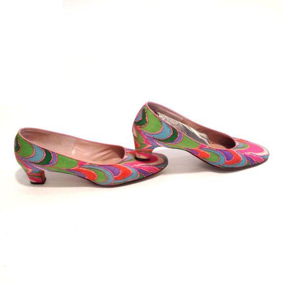 Vintage Pumps psychedelische patroon kleurrijke door marinawilliams