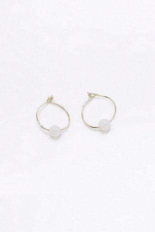 Opalite Ball Hoop Earrings