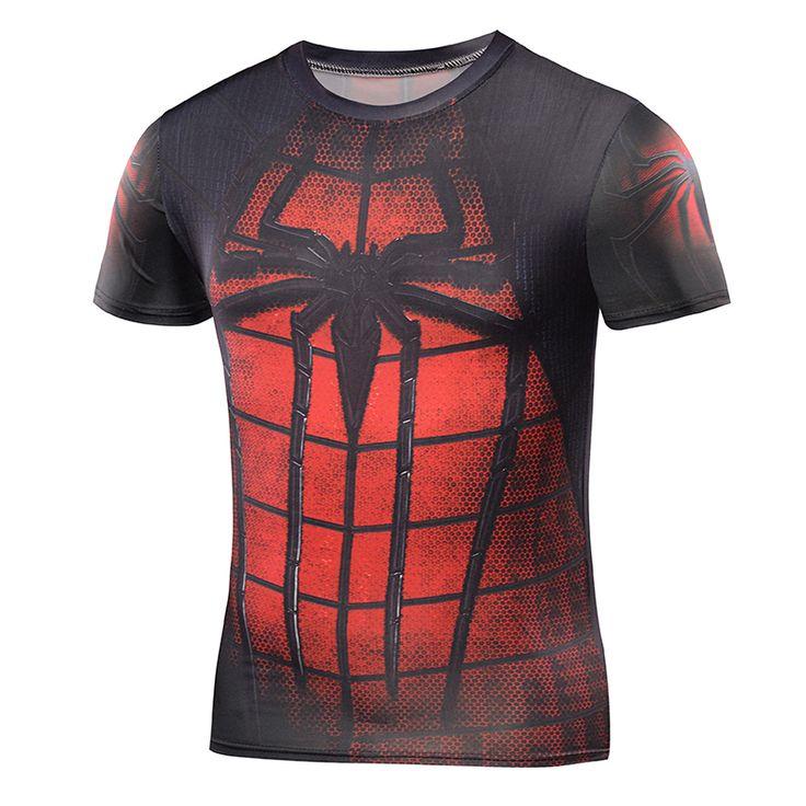 2016 Compression Shirt 3D Punisher Skull Captain America Superman T Shirt Fitness Tights Casual Batman Shirts Brand Clothing